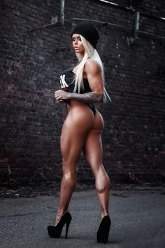 SEXY MUSCULAR DREAM LEGS of blonde Brazilian #Fitness model & IFBB Figure Competitor Larissa Reis : if you LOVE Health, #Fitspo & Female Bodybuilding - you'll LOVE the #Inspirational designs at CageCult Fashion: http://cagecult.com/mma