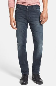 eae2ea2e92 Nudie Jeans 'Thin Finn' Skinny Fit Jeans (Organic Black Grey) available at