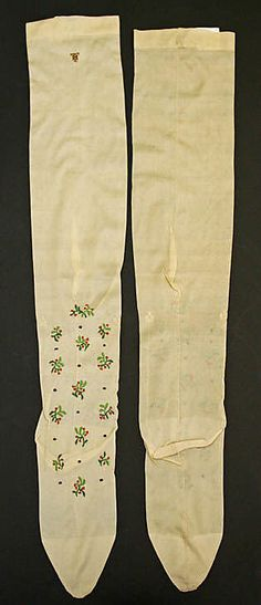 Stockings Date: late century Culture: French Medium: silk 1890s Fashion, Edwardian Fashion, Historical Costume, Historical Clothing, Nylons, Belle Epoch, Lady Stockings, French Lingerie, Period Outfit