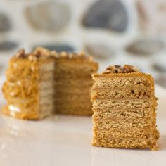 Medovnik - Popular in the Ukraine and Russia and especially the Czech Republic - here is a Czech version of the Honey Cake.