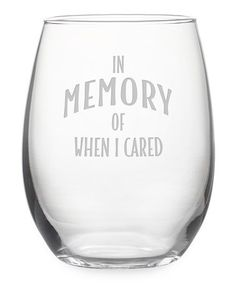 'In Memory' Stemless Wine Glass & Gift Box #zulily #zulilyfinds