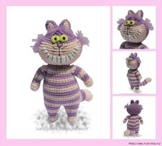 Вязаный чеширский кот — ХатаБогата