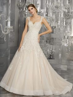 Order Mori Lee Bridal Mariska Wedding Dress Style Find Affordable and Exceptional Mori Lee Wedding Dresses at Ginnys Bridal Collection. Mori Lee Bridal, Mori Lee Wedding Dress, Sheer Wedding Dress, Perfect Wedding Dress, Wedding Dresses Photos, Bridal Wedding Dresses, Wedding Dress Styles, 2017 Wedding, Wedding Hair