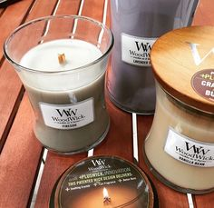 Fireside, Lavender Spa, & Vanilla Bean WoodWick Candles | Available at Twisted Goods!