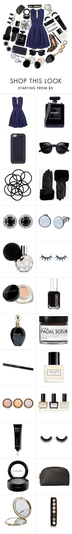 """""""Untitled #325"""" by lorraine-soutar ❤ liked on Polyvore featuring TFNC, Christian Louboutin, Chanel, Tory Burch, Monki, Ted Baker, Skagen, Marc Jacobs, Essie and Roberto Cavalli"""
