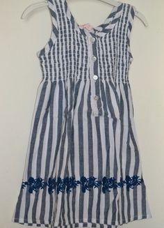 À vendre sur #vintedfrance ! http://www.vinted.fr/mode-enfants/robes/22266326-robe-rayee-bleu-et-blanc-gocco