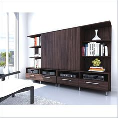 Sonax Contemporary Entertainment Center in Ebony Pecan Finish     item number: 249168 | phone code: C81E-D86B