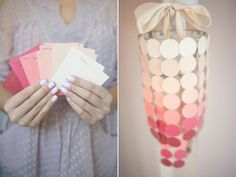 DIY Paint Swatch Chandelier, 18 beautiful things to make with paint chips