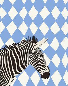 Fine Art Print.  Zebra.  June 17 2012. van joreyhurley op Etsy