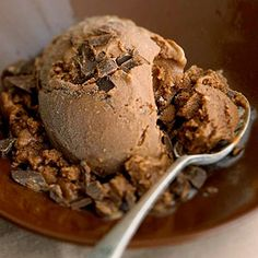 Chocolate Sherbet Using whole milk instead of the more traditional cream makes this frozen chocolate dessert lower in fat.