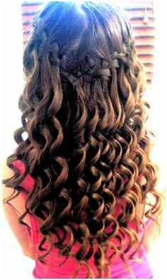 Braid and Curls for long hair - 10 Cute Hairstyles For Cute Little Girls
