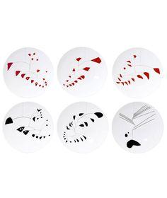 Alexander Calder: Set of 6 Dinner Plates by Bernardaud