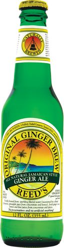 Reed's Original Ginger Brew was our first creation, and is a Jamaican recipe for homemade ginger ale using 17 grams of fresh ginger root, lemon, lime, honey, cane sugar, pineapple, herbs and spices.