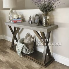 Stunning handmade rustic farmhouse entryway table, sofa table, buffet table. Just the right accent piece to add to your home. This item is