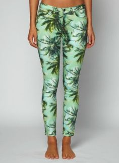Have to get these! Tropical trousers - J crew - palm print