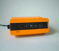 Vintage flip clock Krups alarm clock Mid-Century by LeKosmosBerlin
