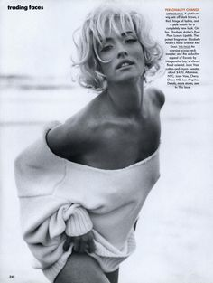 Tatjana Patitz by Herb Ritts - US Vogue May 1991 Tatiana Patitz, Herb Ritts, Sr1, Celebrity Photographers, Peter Lindbergh, Off Shoulder Sweater, Girls Sweaters, Strike A Pose, My Images