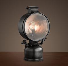 1950s British Railway Flood Lamp  A wonderful 'updated' take on traditional flood lighting.