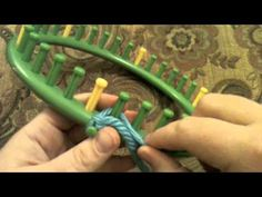 How to Drawstring Cast on a #round #loom by Kristen Mangus of GoodKnitKisses