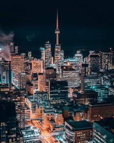 Toronto Night Aesthetic, City Aesthetic, Travel Aesthetic, Toronto City, Toronto Travel, Toronto Skyline, New York Skyline, City Iphone Wallpaper, Vancouver