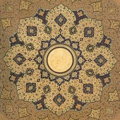 Shamsa (detail), Padshahnama, Mughal A Shamsa is an intricate sunburst design sometimes used as a decoration at the beginning. Islamic Art Pattern, Pattern Art, Islamic Calligraphy, Calligraphy Art, Art Decor, Decoration, Ancient Persian, Turkish Art, Arabic Art