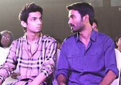 Dhanush, Anirudh at the function. A candid moment.