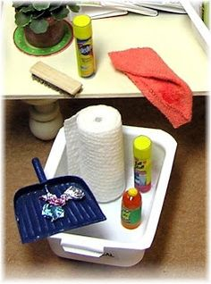 diy dollhouse accessories | DIY DOLLHOUSE MINIATURES: Cleaning supplies | Miniatures