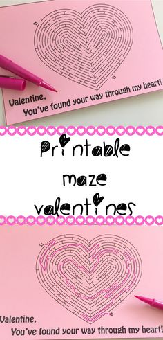 Free printable maze valentine for kids and their friends. Make it a no-candy valentine by adding a marker or pencil instead!
