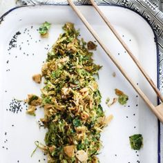 Asian shaved brussels sprouts