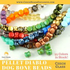 Is your jewelry collection ready to be expanded? Of course, it is! Trust us, with our new arrivals - Pellet Diablo Dog Bone Czech Glass Beads...