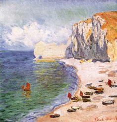Claude Monet 1840-1926 Paisaje en Etretat