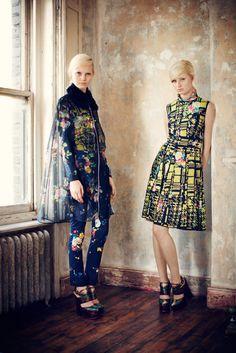 Erdem Pre-Fall 2013 Fashion Show - Stephanie Hall and Steffi Soede