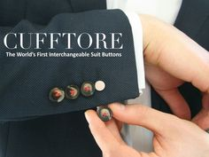 Cufftore, A System of Interchangeable Magnetic Suit Buttons