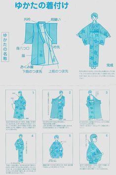 Instrucciones-Yukata.jpg (1872×2814) I should wear mine that I got many years ago in Japan