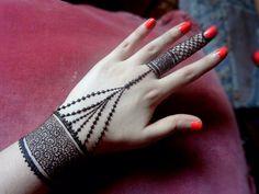 Beautiful henna jewellery mehndi design