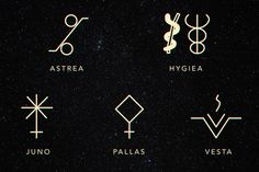 Astrological Symbols That Will Help You Learn More About The Universe And About Yourself - cosmicreole - Astrology party Aztec Tattoo Designs, Name Tattoo Designs, Lilith Symbol, Moon Glyphs, Sidereal Astrology, Black Moon Lilith, Astrology Planets, Sigil Magic, Astrological Symbols