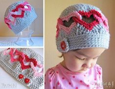 Crochet And Knitted Heart Ear Warmers
