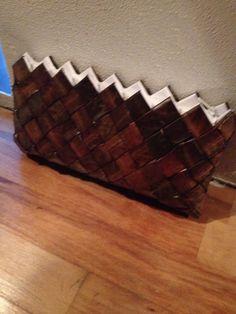 Pung/taske lavet af efterårets blade fra træerne