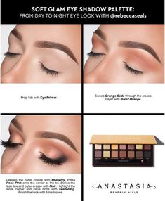 An everyday to night palette with fourteen shades, including essential mattes and glam shimmers. Eye Makeup Steps, Smokey Eye Makeup, Red Lipstick Makeup, Eyeshadow Makeup, Anastasia Beverly Hills, Makeup Palette, Eyeshadow Palette, Palette Anastasia, Anastasia Makeup