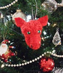 Red dragon or plan for Smaug (The Knitting Witch) Tags: christmas red wool wales cozy knitting dragon designer handmade witch knit craft yar...