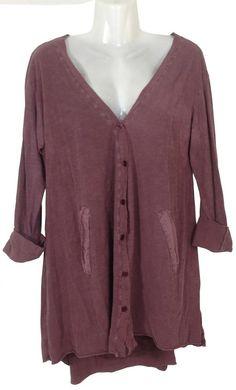 Damen T-Shirt Cardigan,Onesize/geeignet bis Grösse 44, Länge 75 cm (vorne)