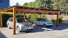 Garaje de madera independiente Pergola, Outdoor Structures, Garages, Carriage House, Houses, Parking Lot, Wood, Arbors