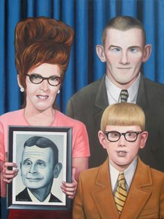 """""""Family Portrait with Late Uncle""""  By Dana Muise (2010). Oil on canvas."""