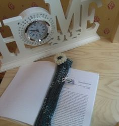 bookmark green and white bookmark in wool by knittyshop on Etsy