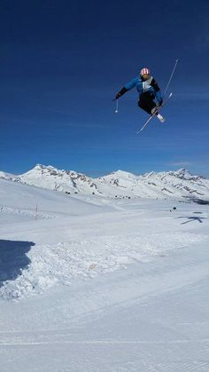 Snowpark of Le Dévoluy, ski resorts in the French Alps.