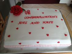 Engagement cake .... made in a hurry only a couple of days notice for this one!