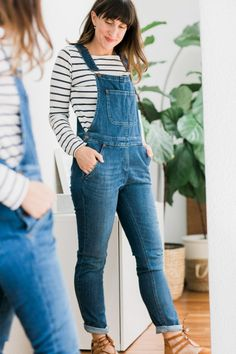 Summer packing with Boden - Hither & Thither Long Skirt Outfits, Modest Outfits, Jean Outfits, Modest Fashion, Apostolic Fashion, Modest Clothing, Overalls Women, Denim Overalls, Denim Outfit