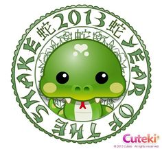 Year of the Snake Kawaii