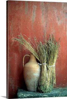 Rustic composition, Amphora and wheat