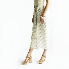 Wide Leg Cotton Pants- White Grey Stripe- Ikat Wrap Pants- Palazzo Pants- Wide Leg Trousers 100% Cotton Size: One Size (fits 4-14) Machine wash cold. Tumble or line dry. Color: Natural white, grey One